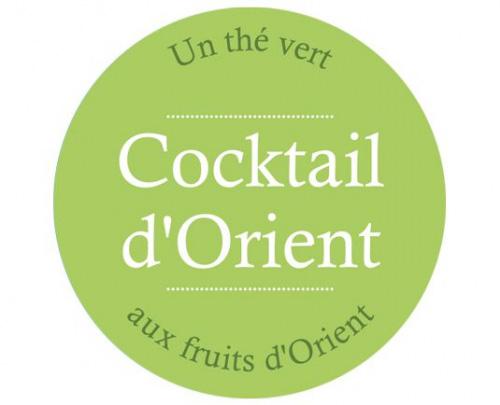 Étiquette Thé vert Cocktail d'orient