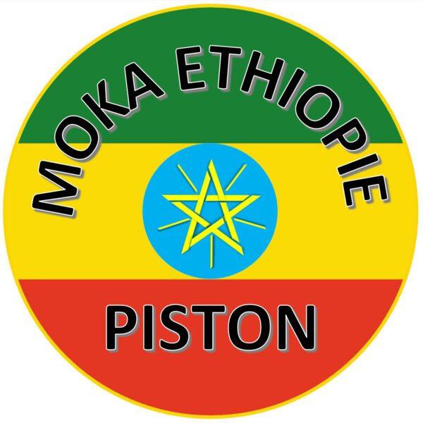 LOGO CAFÉ MOKA ETHIOPIE PISTON