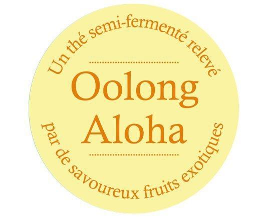 Étiquette Oolong Thé Aloha