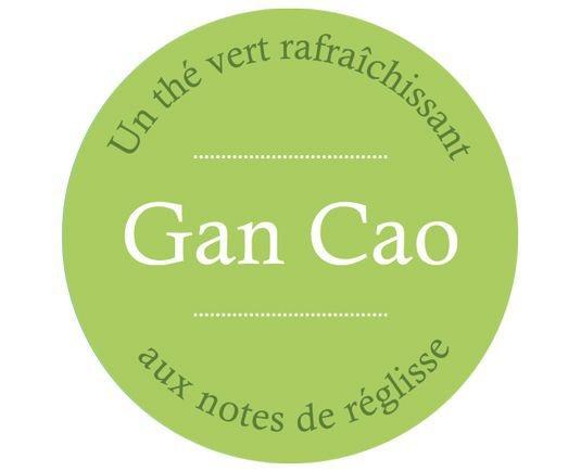 Étiquette Thé vert Gan Cao