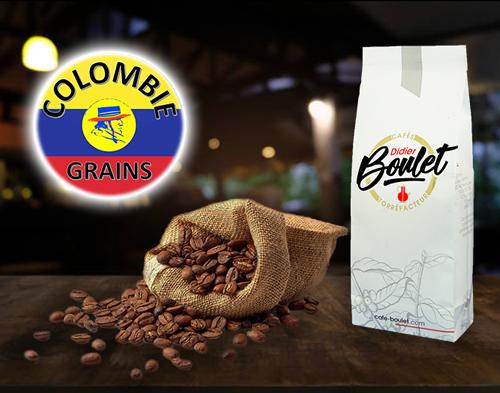 paquet de grains café Colombie
