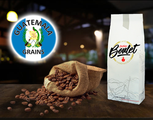 Guatemala Grains de café et paquet de café Didier Boulet