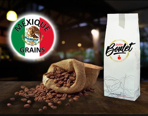 Mexique Grains de café et paquet de café Didier Boulet