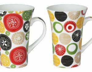 Coffret de 2 mugs Jaipur Orange