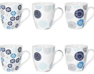 Coffret 6 tasses Jaipur Bleu
