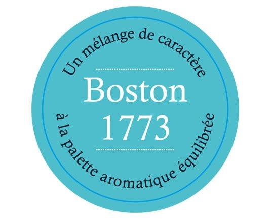 Étiquette Thé Noir BOSTON