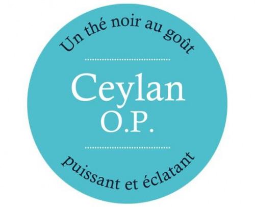 Étiquette Thé Noir CEYLAN O.P.