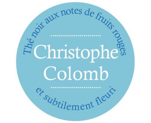 Étiquette Thé Noir Christophe Colomb