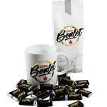 Tasse, chocolats, café Boulet