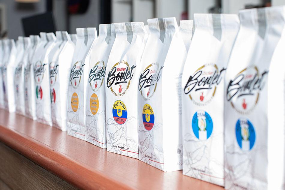 Paquets de café didier boulet