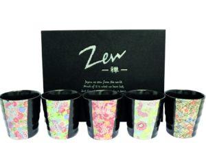 Coffret de 5 tasses Zen Flower