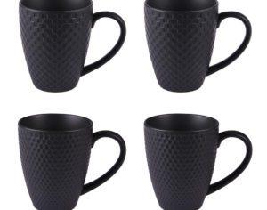 Coffret 4 mugs black snow 35cl