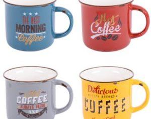 Coffret de 4 mugs Vintage 35 cl