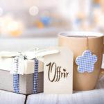 offrir cadeaux mug panier cafés grain moulu boulet