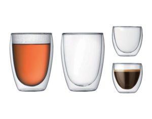 Set de 4 verres doubles paroies