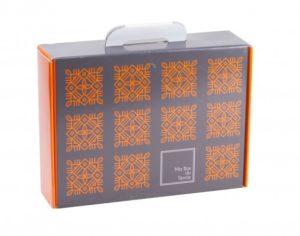 Valisette carton Marron Orange