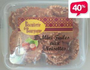 Boîte Mini Tuiles aux noisettes 150g