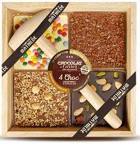 TABLETTE 4 choc' à casser – assortiment 3 chocolats 400g