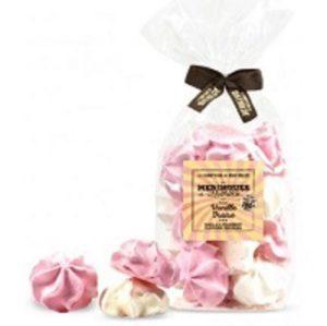 Meringues saveur vanille fraise 150g